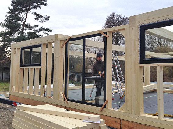 Bau individueller Holzrahmenhäuser