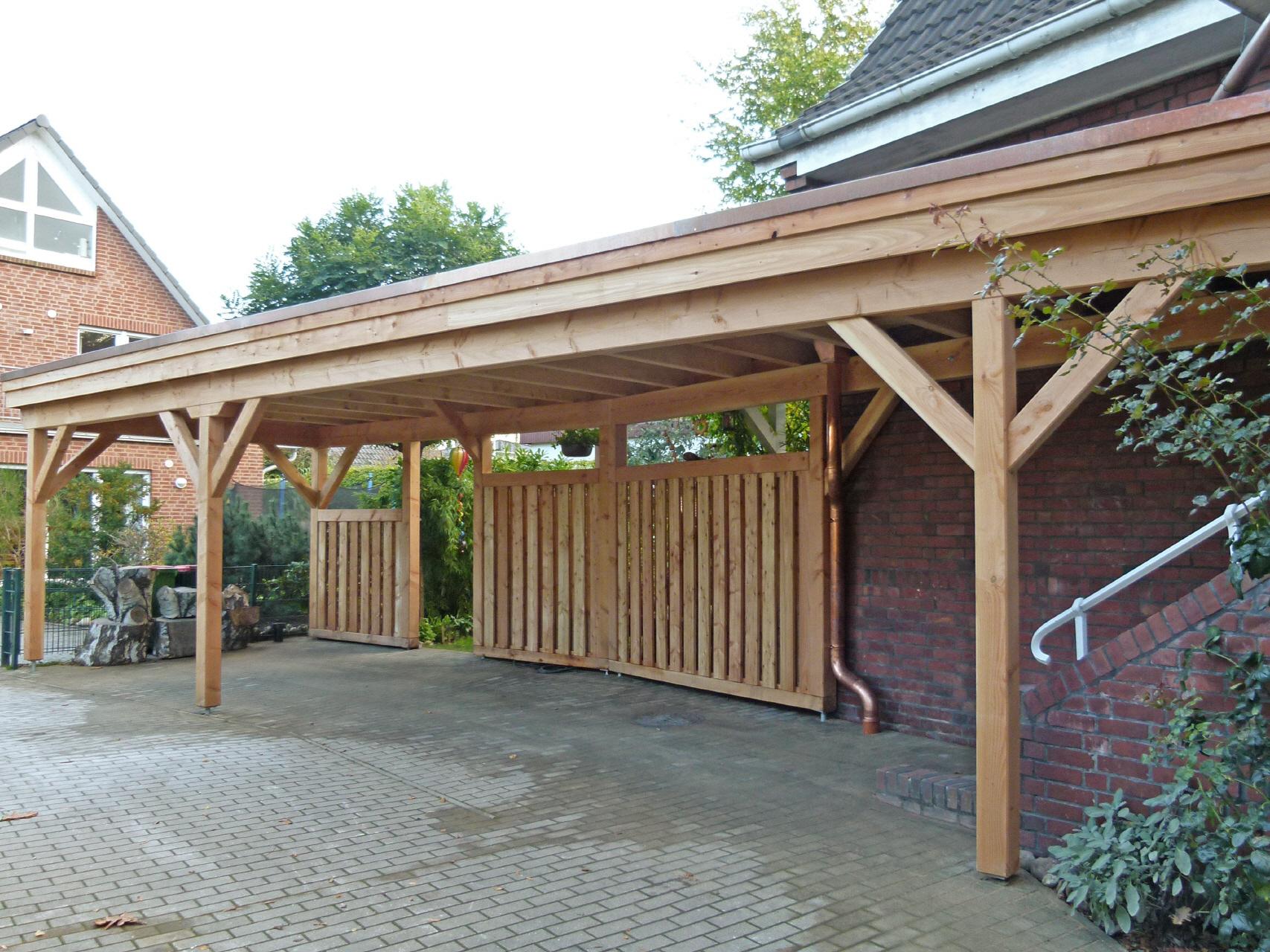 Carport und Zaun aus Holz von Hintze Holzbau