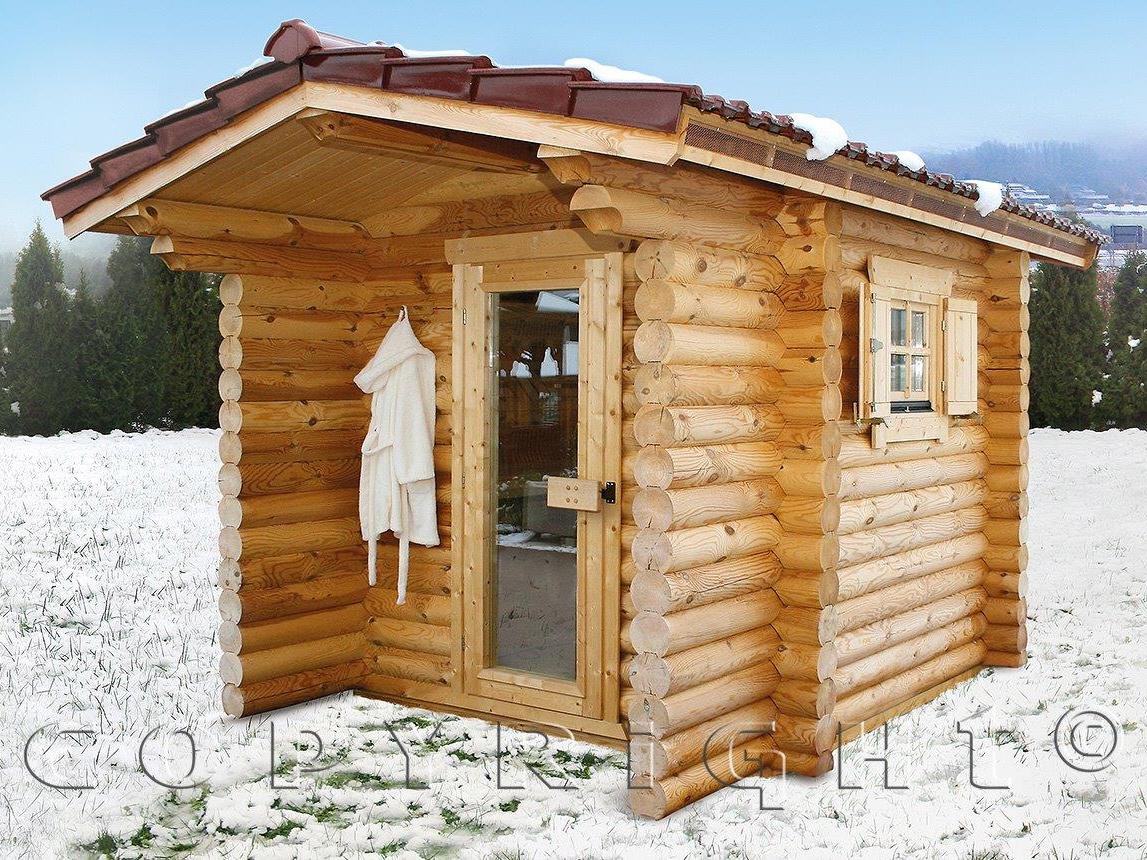 Finnische Sauna mit Holzqualität aus ökologischem Holz
