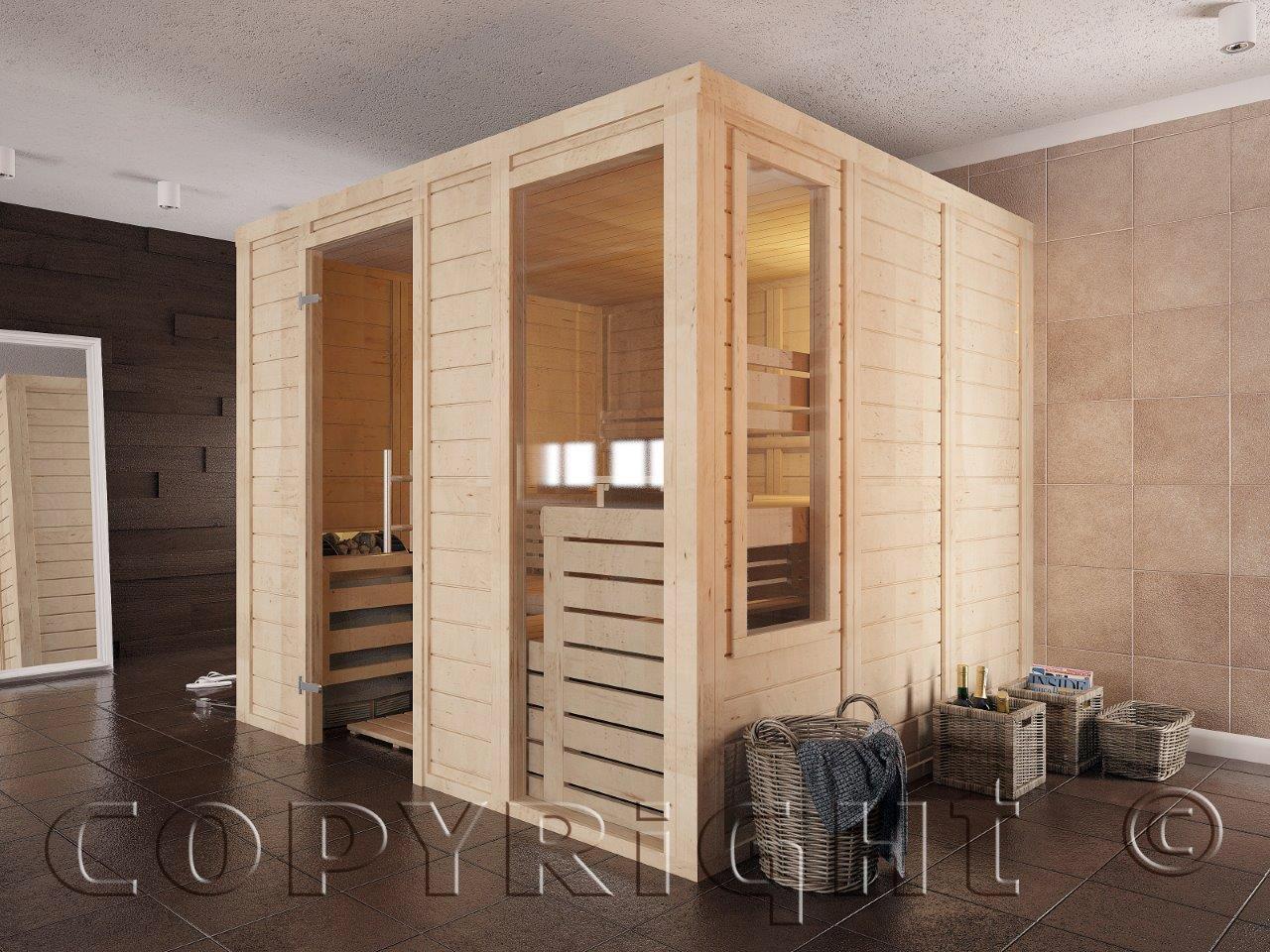 Individuelle Saunabauten aus nordischem Holz