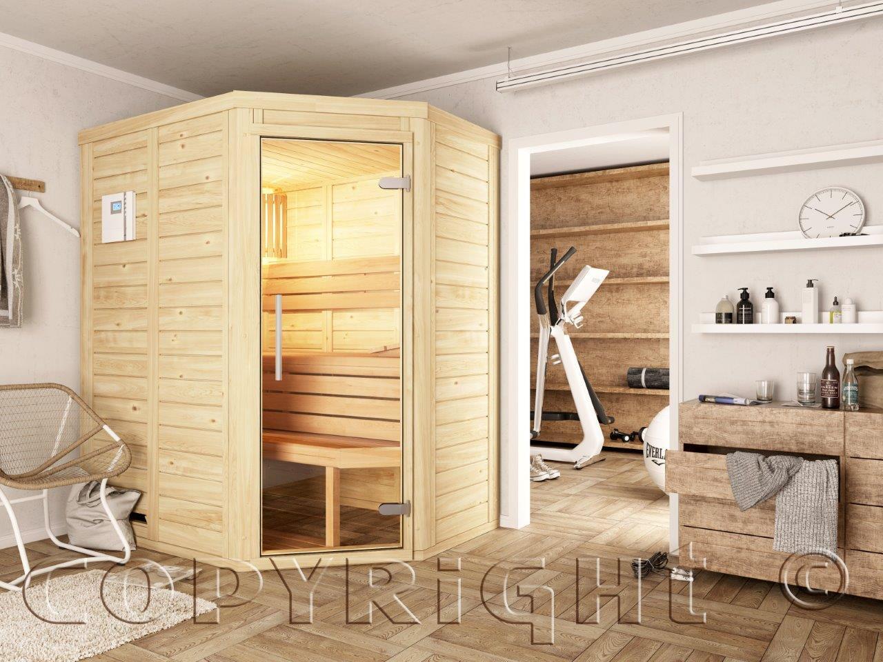 Saunabau mit nordischen Hölzern, gesund